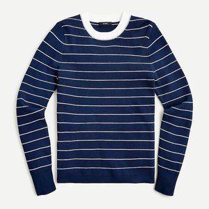 J Crew Ribbed crewneck sweater in stripe